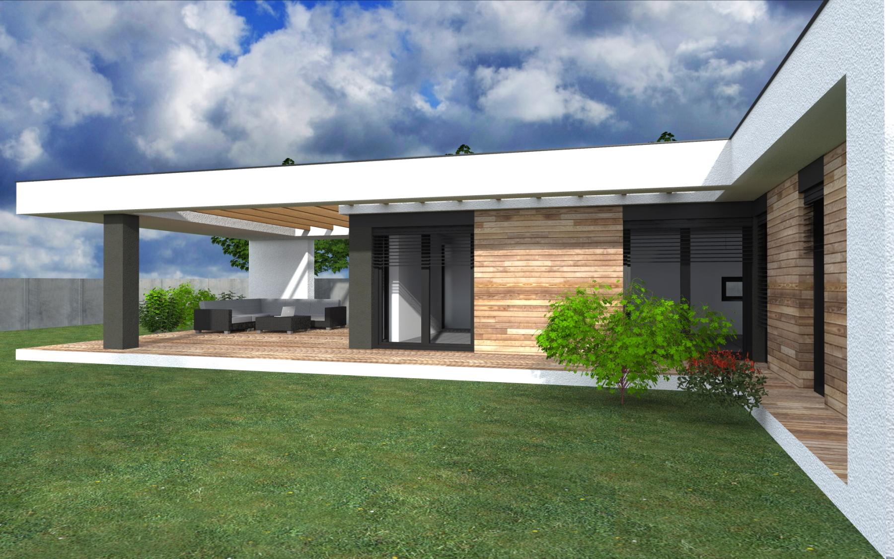 Rodinný dom – plochá strecha – A – R00