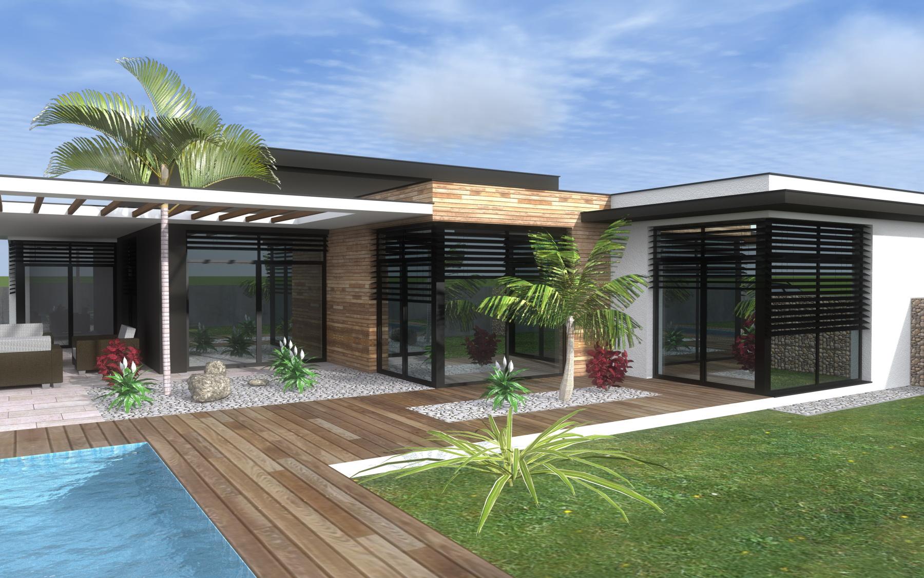 Rodinný dom – plochá strecha – B